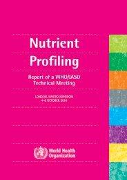 Nutrient Profiling - World Health Organization