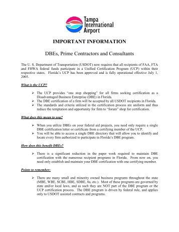 Dbe information tampa international airport - Office of international education gatech ...