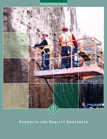Products for Quality Shotcrete - Euclid Chemical Co