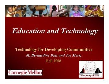 Education and Technology - TechBridgeWorld