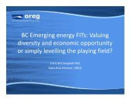 BC Emerging Energy FITs - Marine Renewables Canada