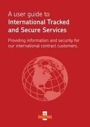 A user guide to International Tracked and Secure ... - Royal Mail