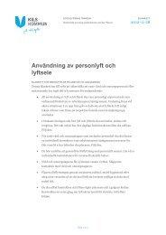 Användning av personlyft och lyftsele (med påskrift) - Kil