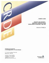 Empirical Evidence from Developing Countries, 1960-1990 - Centre ...