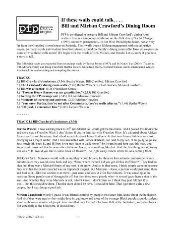 PDF of transcript - Philadelphia Folklore Project