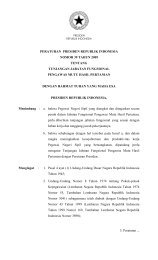Peraturan Presiden Nomor 39 Tahun 2009