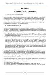 SECTION I SUMMARY OF SECTOR PLANS - Buffalo City