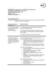 Entrepreneurship and Business Development - Association of ...