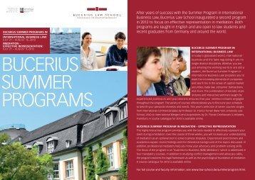 """Flyer """"Bucerius Summer Programs"""" (pdf)... - Bucerius Law School"""
