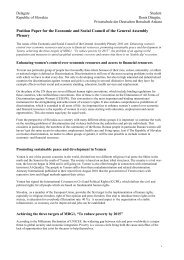 Position Paper for the Economic and Social Council of the ... - MUNOL