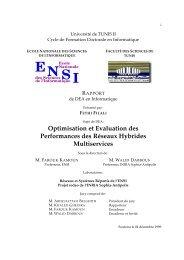 Optimisation et Evaluation des Performances des ... - Fethi Filali