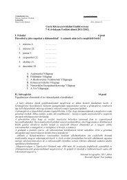 Curie Környezetvédelmi Emlékverseny 7–8. évfolyam Területi döntő ...