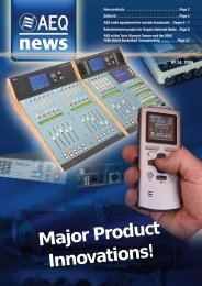 Major Product Innovations! - AEQ International