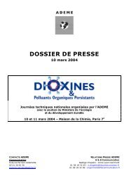 Dioxines Polluants Organiques Persistants - Ademe
