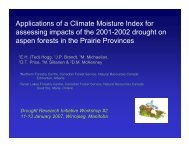 Applications of a Climate Moisture Index for Assessing Impacts of ...