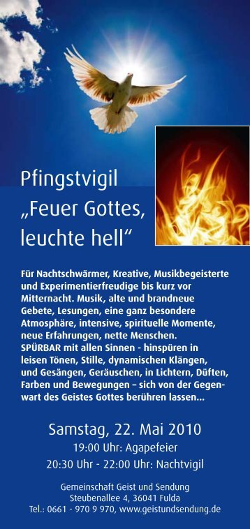 """Pfingstvigil """"Feuer Gottes, leuchte hell"""" - Geist und Sendung"""