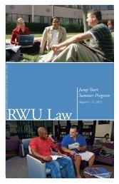 Jump Start Summer Program - Roger Williams University School of ...