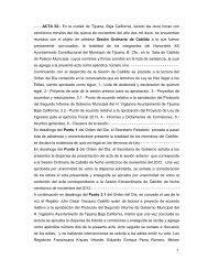 1 - - - ACTA 52.- En la ciudad de Tijuana, Baja California, siendo las ...