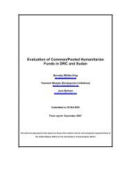 Evaluation of Common/Pooled Humanitarian Funds in ... - OCHANet