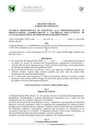 Schema di contratto - Il Portale Regionale della Cultura