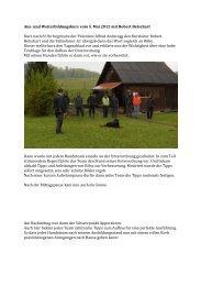 Aus- und Weiterbildungskurs vom 5. Mai 2012 mit Robert Betschart ...