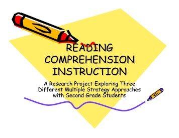 Reading Comprehension Instruction - Emma Eccles Jones Center
