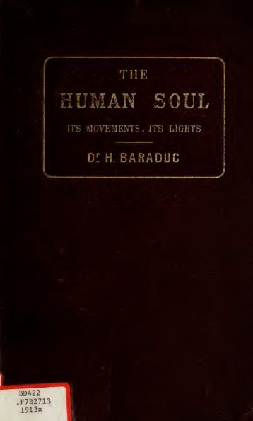 The human soul : its movements, its lights, and the iconography of ...
