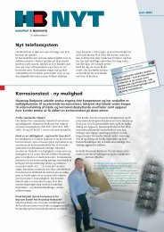 Nyt telefonsystem Korrosionstest - ny mulighed - Dansk