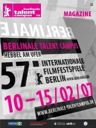 MAGAZINE - Berlinale Talent Campus - Top-IX