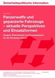 Sicherheitspolitische Information: Panzerwaffe und gepanzerte ...
