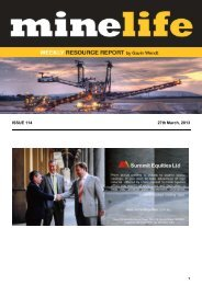 Minelife Article 27th March 2013 - YTC Resources