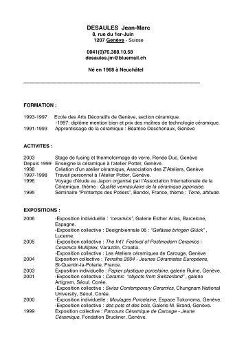DESAULES Jean-Marc - Swissceramics