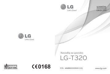 Navodila za uporabo telefona T320 - LG