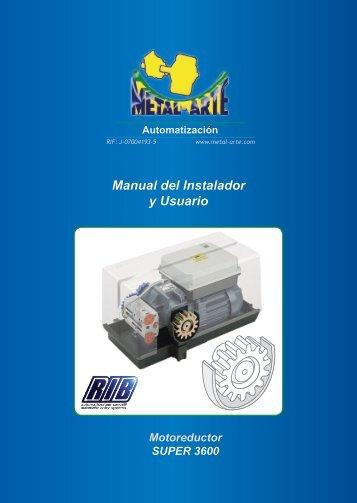 Manual del Instalador y Usuario - metal-arte