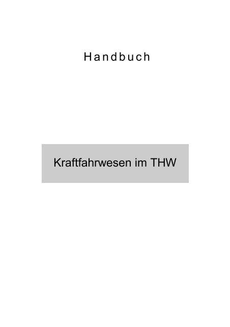 Kraftfahrwesen im THW - THW Ortsverband Eschweiler
