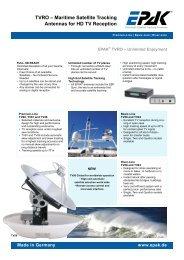 TVRO – Maritime Satellite Tracking Antennas for ... - ZEPHYR MARINE