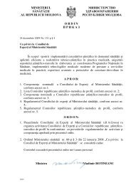 Ordin cu privire la Consiliul de Experţi al Ministerului Sănătăţii (nr ...