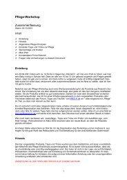 Pflege-Workshop Zusammenfassung