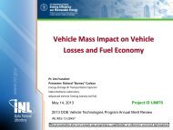 Vehicle Mass Impact on Vehicle Losses and Fuel Economy