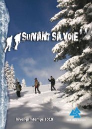 Plan de formation CAF Albertville 2009-2010 - Club Alpin Francais ...