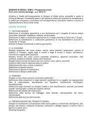 DISEGNO DI MODA 1 (DM1) > Programma svolto Prof. arch. Ornella ...