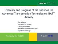 Overview and Progress of the Batteries for Advanced Transportation ...