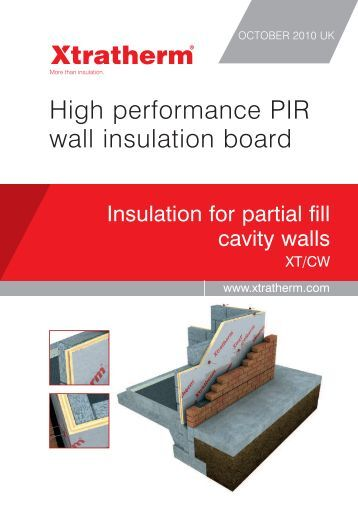 High performance PIR wall insulation board - Xtratherm