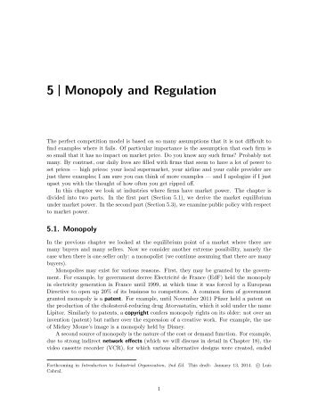 5 Monopoly and Regulation - Luiscabral.net
