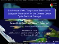 The Impact of the Temperature Sensitivity of Ecosystem Respiration ...