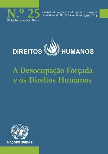 A Desocupação Forçada e os Direitos Humanos - Gabinete de ...