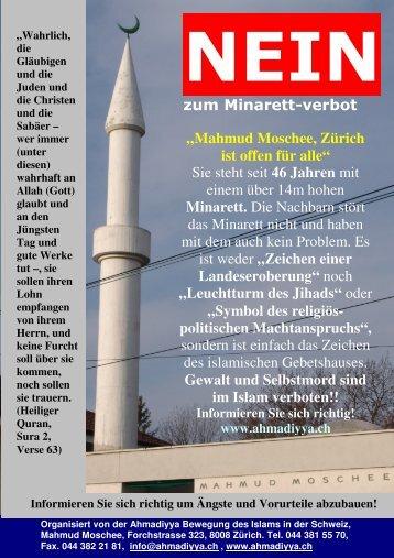 Tag der offenen Moschee (Zürich) - Ahmadiyya Muslim Jamaat ...