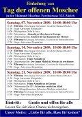 Tag der offenen Moschee (Zürich) - Ahmadiyya Muslim Jamaat ... - Seite 2