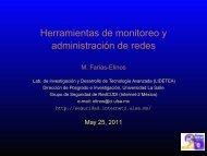Herramientas de monitoreo y administración de redes