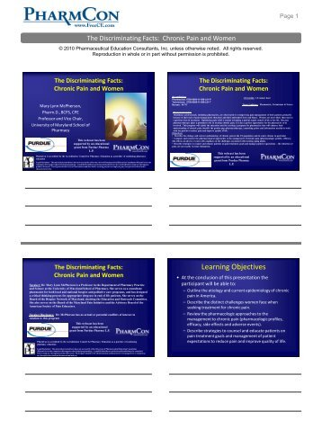 Discriminating Facts Handout - Free CE Continuing Education ...